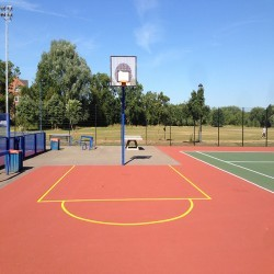 Tarmacadam Multi Use Games Area in Arlescote 12