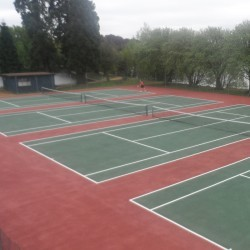 Macadam Tennis Courts in Airntully 7