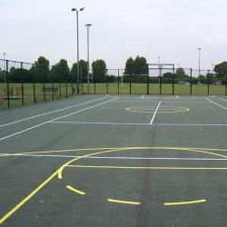 Tarmacadam Multi Use Games Area in Dunnikier 10