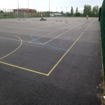 Tarmacadam Multi Use Games Area in Dunnikier 9