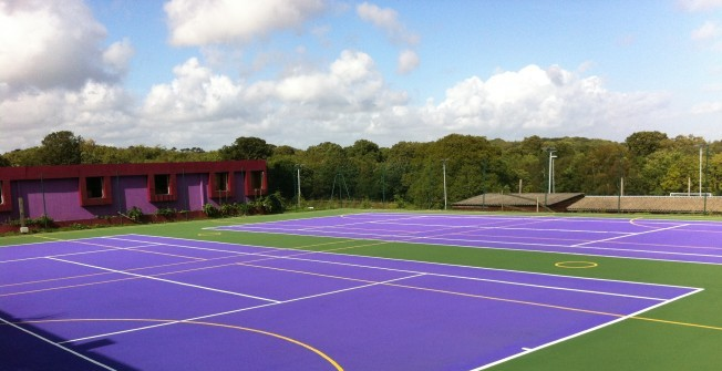 Macadam MUGA Lines in West Lothian