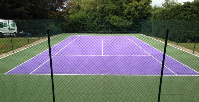 Tarmacadam Tennis Court in Ashley Heath