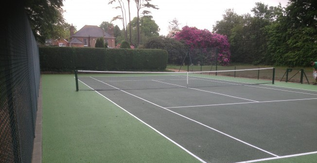 Tarmac Tennis Facility in Ashley Heath
