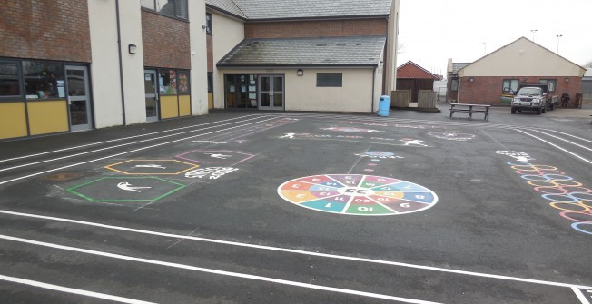 Macadam Playground Flooring in Aby