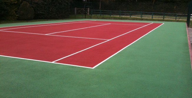 Macadam Tennis Surface in Ashley Heath
